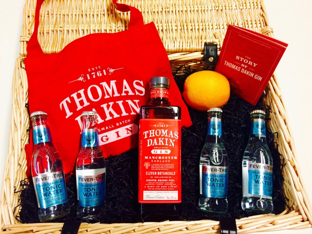 Thomas Dakin Gin hamper with Fever Tree Mediterranean Tonic, apron and orange